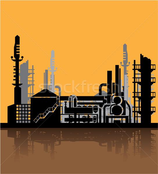 Sucia fábrica clipart imagen tecnología metal Foto stock © vectorworks51