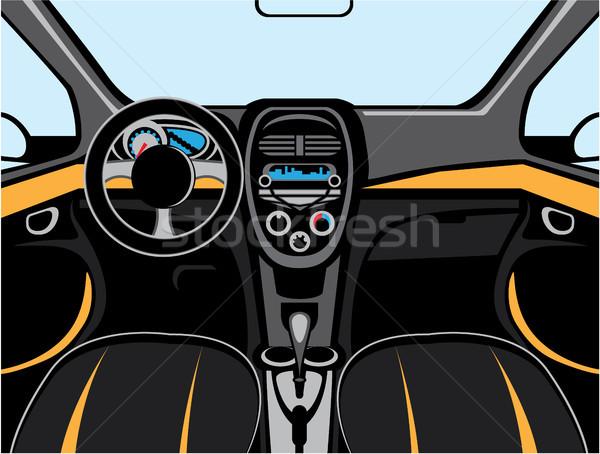 Car interior vector clip-art image file Stock photo © vectorworks51