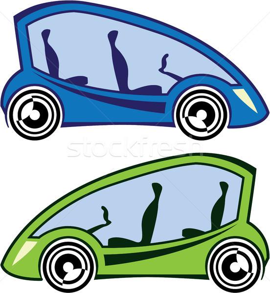 Carro elétrico imagem tecnologia vidro sonho Foto stock © vectorworks51