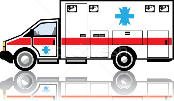 Ambulancia camión clipart imagen salud hospital Foto stock © vectorworks51
