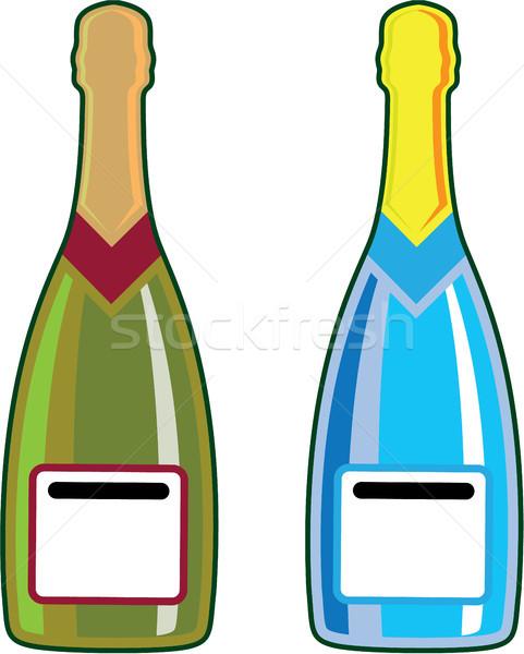 Champagne bottles vector clip-art illustration image Stock photo © vectorworks51