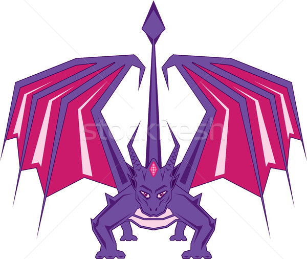 Ruby red dragon vector illustration clip-art  Stock photo © vectorworks51