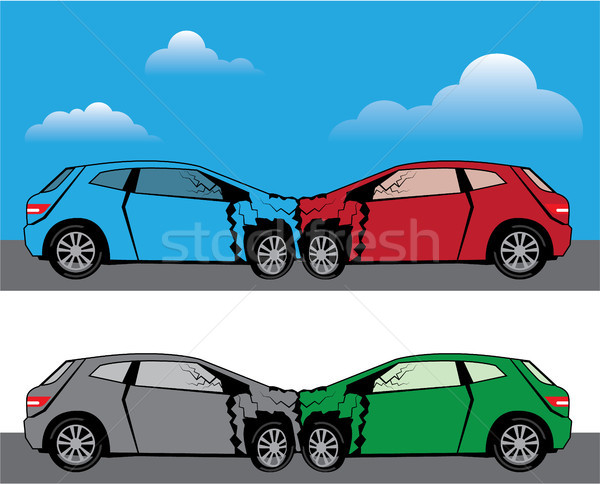 Car accident vector illustration clip-art eps image Stock photo © vectorworks51