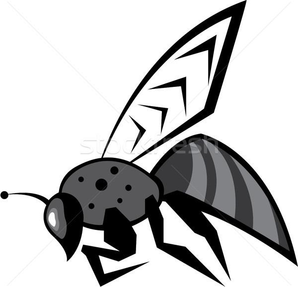 Black bee vector image clip-art eps file Stock photo © vectorworks51