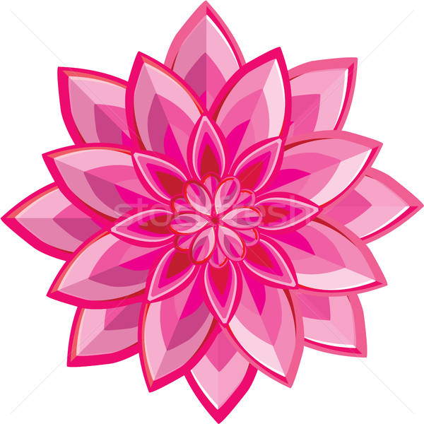 Pink flower vector illustration clip-art image Stock photo © vectorworks51