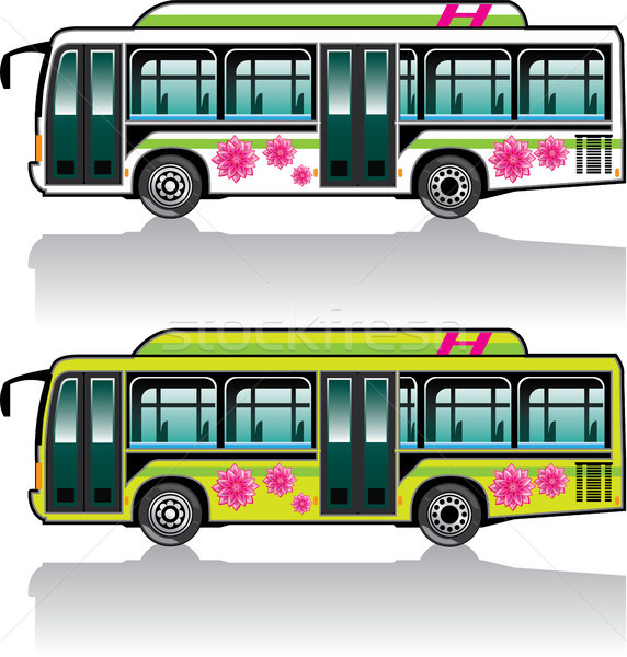 Eco bus vector illustration clip-art image Stock photo © vectorworks51