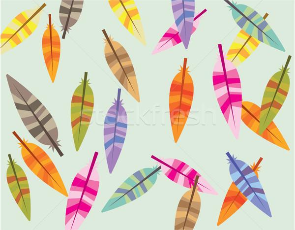Color clipart imagen casa resumen Foto stock © vectorworks51