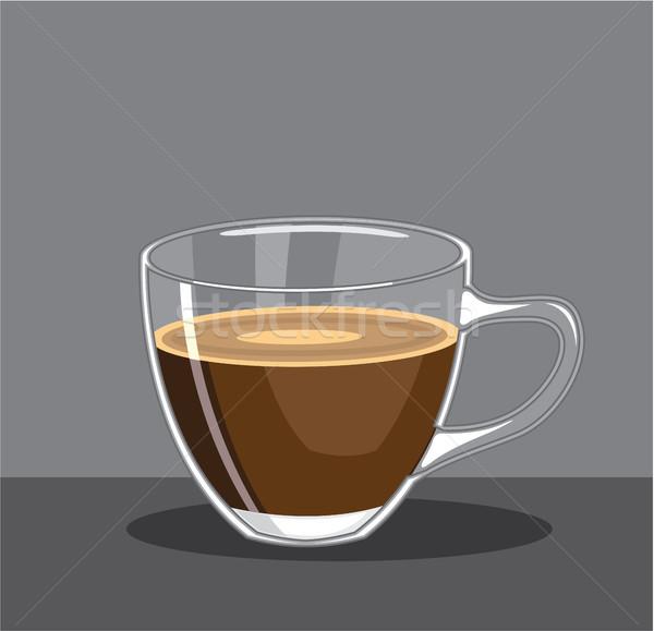 Beker koffie clipart afbeelding abstract achtergrond Stockfoto © vectorworks51