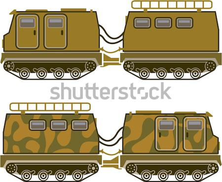 Locomotief kleur clipart afbeelding eps auto Stockfoto © vectorworks51