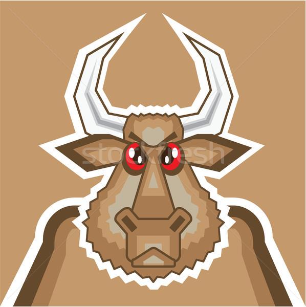 Bull cartoon angry animal vector eps image Stock photo © vectorworks51