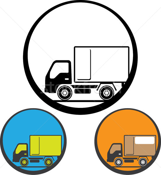 Deliver truck vector icon clip-art image Stock photo © vectorworks51