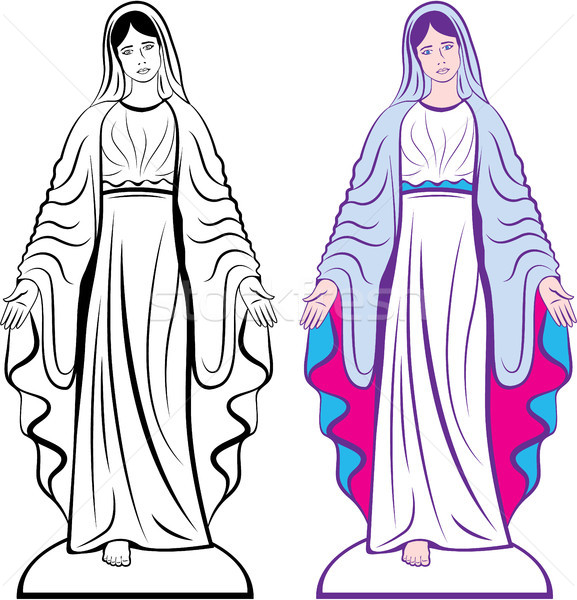 Godmother catholic sculpture vector clip-art image Stock photo © vectorworks51