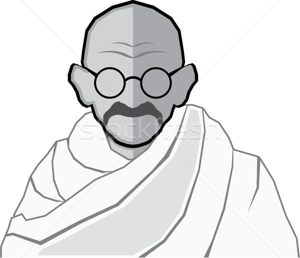 Ghandi vector illustration clip-art image Stock photo © vectorworks51