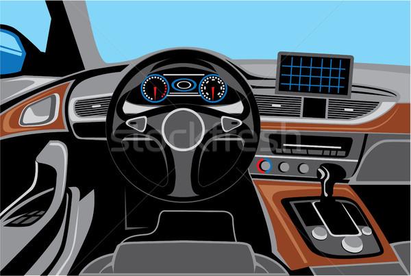 Auto wnętrza wewnątrz pojazd samochodu wektora Zdjęcia stock © vectorworks51