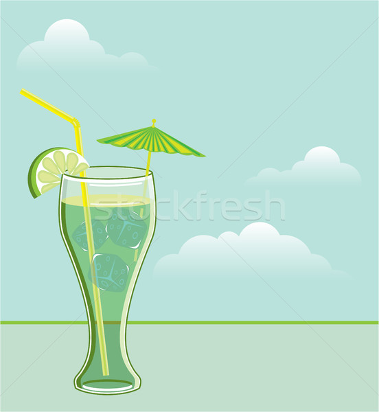 Cool drink vector illustration clip-art file Stock photo © vectorworks51