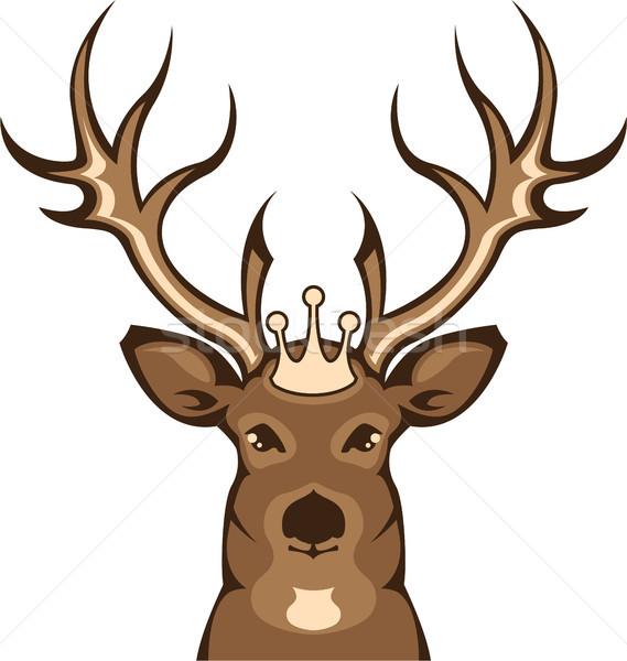 Kraliyet geyik eps dosya doğa kart Stok fotoğraf © vectorworks51