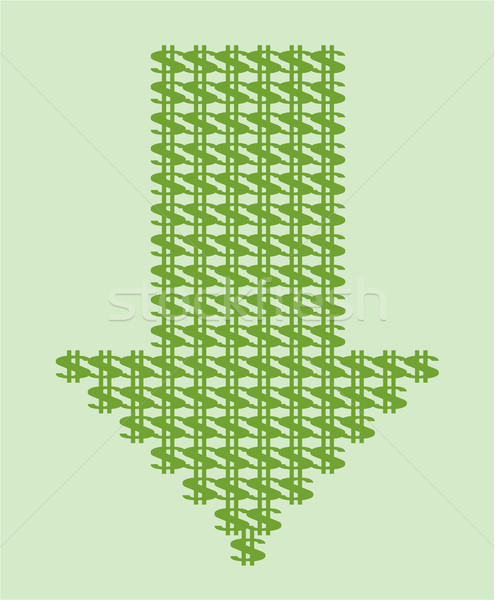 Dollar down currency devaluation vector clip-art  Stock photo © vectorworks51
