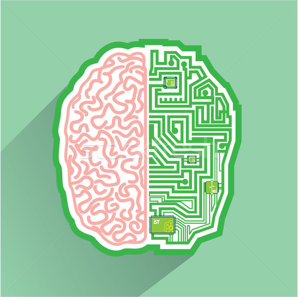 Electro mind vector illustration clip-art image Stock photo © vectorworks51