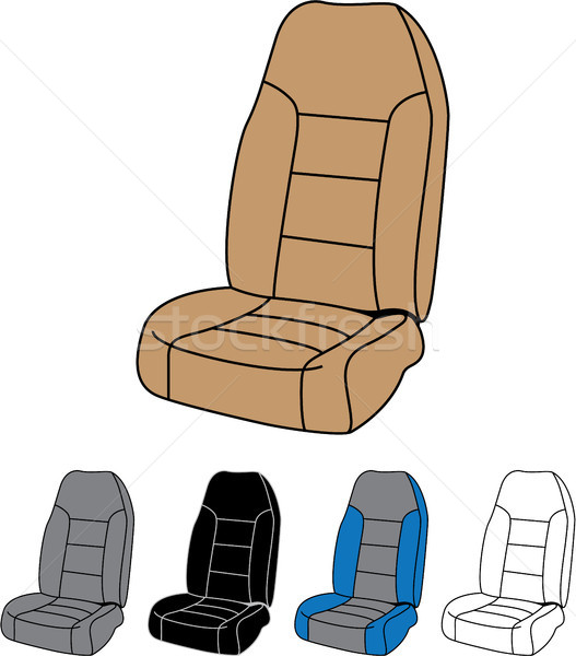 Front car seat vector image clip-art file Stock photo © vectorworks51
