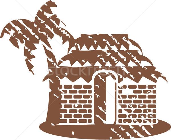 Grunge hut vector clip-art image Stock photo © vectorworks51