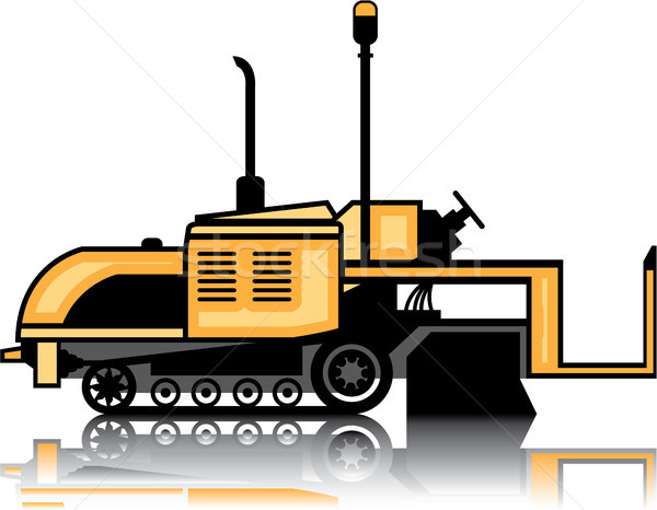 Asphalt paver vector illustration clip-art image Stock photo © vectorworks51