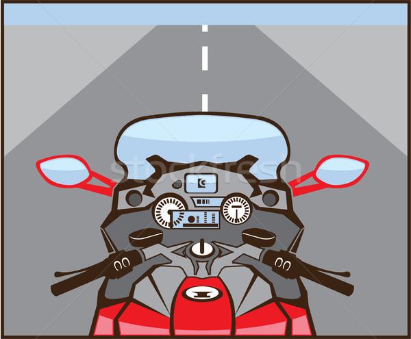 Bikers view motorcycle color vector clip-art image Stock photo © vectorworks51