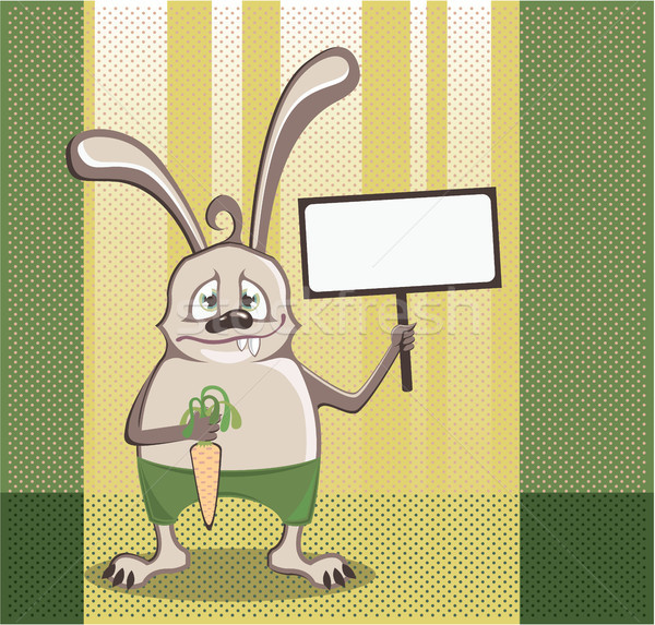 Stock photo: Rabbit character vector illustration clip-art image