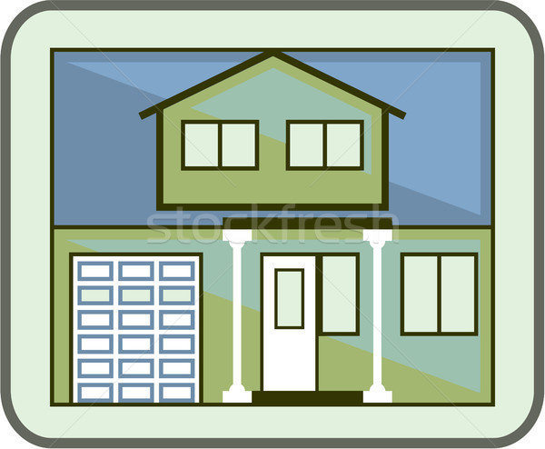 Simple house icon vector eps image Stock photo © vectorworks51