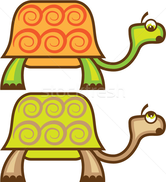 Louco tartaruga desenho animado natureza cor Foto stock © vectorworks51