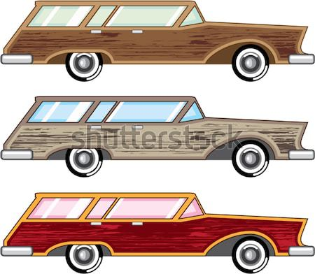 Classic style old vehicle vector clip-art illustration image Stock photo © vectorworks51