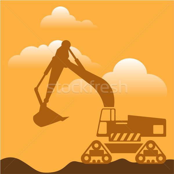 Excavator illustration clip-art image vector file Stock photo © vectorworks51