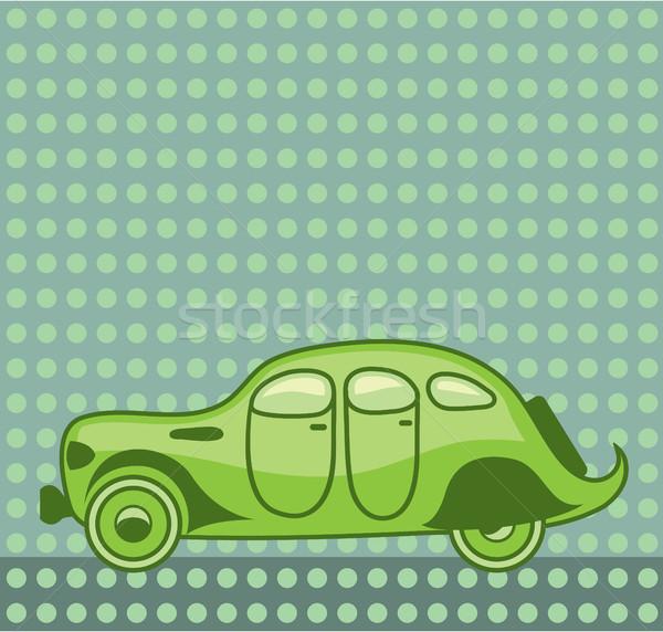 Green leaf car vector illustration clip-art image Stock photo © vectorworks51