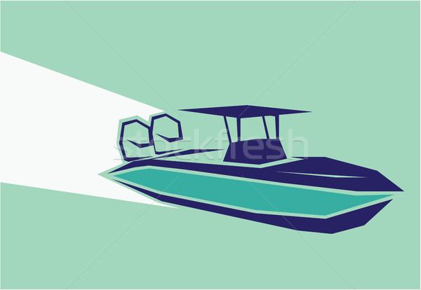 Fast boat vector illustration image clip-art Stock photo © vectorworks51