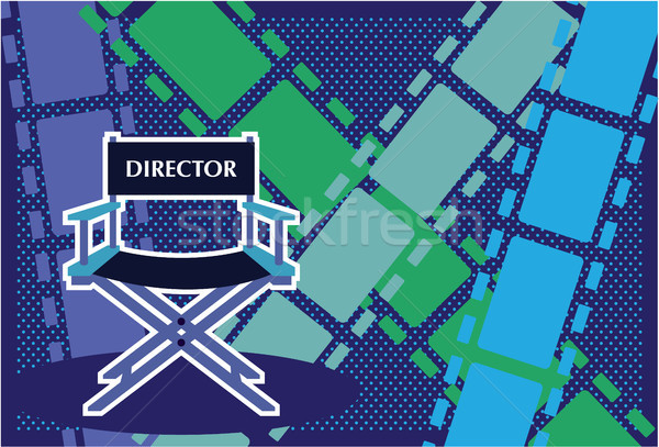 Film directors chair vector illustration clip-art image Stock photo © vectorworks51