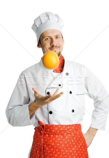 Chef with pomelo Stock photo © velkol