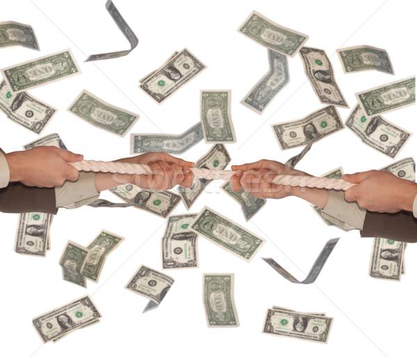 Ręce dolarów lina działalności finansów Zdjęcia stock © velkol