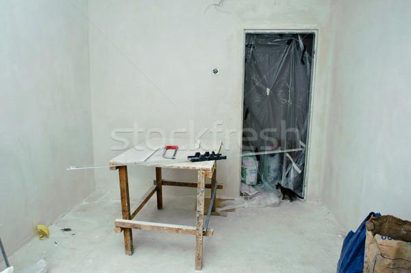 Tamir görüntü oda yeni Bina duvar Stok fotoğraf © velkol
