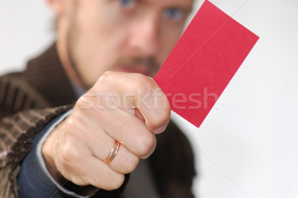 Red card Stock photo © velkol
