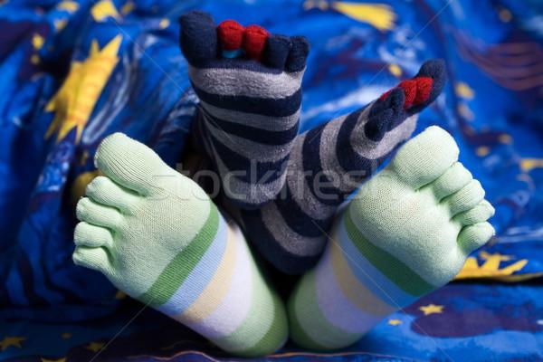 смешные ног складе фото изображение два Сток-фото © velkol