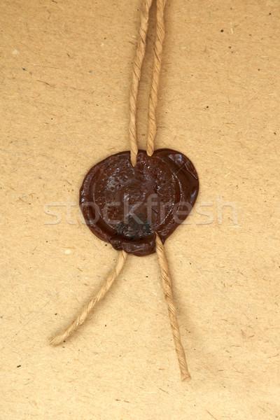 Bélyeg hangya iker kép régi papír iroda Stock fotó © velkol