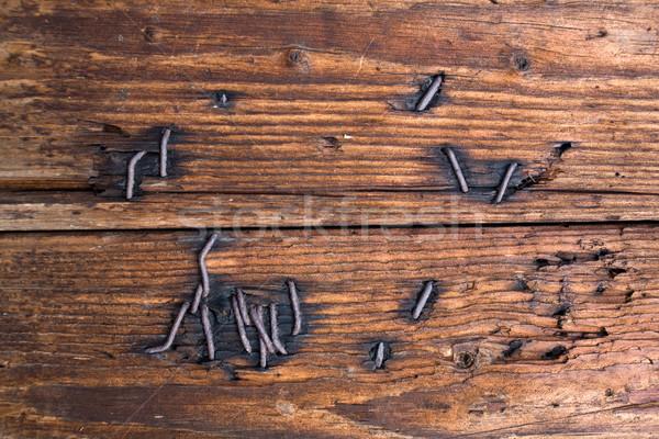 çivi ahşap stok fotoğraf görüntü kahverengi Stok fotoğraf © velkol