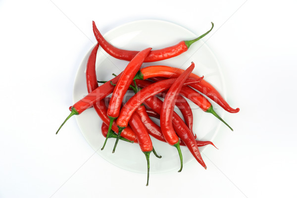 Red chilies peppers Stock photo © velkol