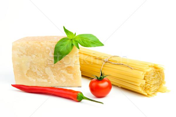 Basic Ingredients for spaghetti Stock photo © velkol