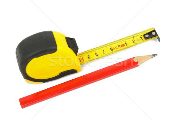 Farbują obraz czerwony budowy narzędzie władcy Zdjęcia stock © velkol