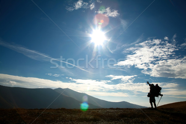 Man on a hill Stock photo © velkol
