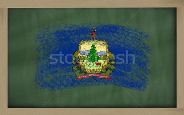Zászló Vermont iskolatábla festett kréta amerikai Stock fotó © vepar5
