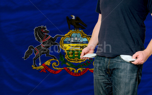 recession impact on young man and society in american state of p Stock photo © vepar5