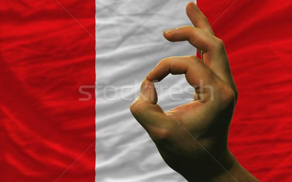 Gesto Perú bandera hombre Foto stock © vepar5