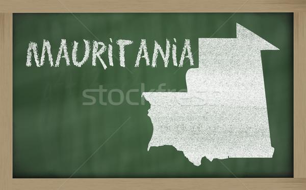 outline map of mauritania on blackboard  Stock photo © vepar5