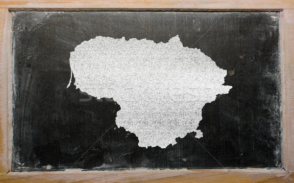 Schets kaart Litouwen Blackboard tekening schoolbord Stockfoto © vepar5